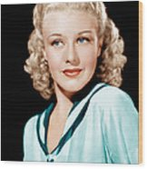 Ginger Rogers In Rko Publicity Wood Print by Everett