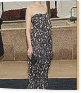 Ginnifer Goodwin Wearing A Yves Saint Wood Print by Everett
