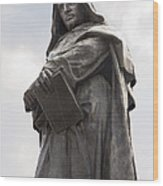 Giordano Bruno, Italian Philosopher Wood Print by Sheila Terry