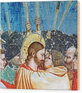 Giotto: Betrayal Of Christ Wood Print