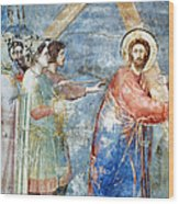 Giotto: Road To Calvary Wood Print