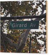 Girard Avenue In Philadelphia Wood Print
