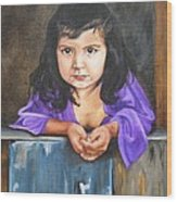 Girl From San Luis Wood Print