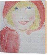 Girl In A Red Hood Wood Print