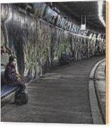 Girl In Station Wood Print by Joana Kruse