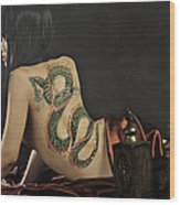 Girl With A Dragon Tattoo 4 Wood Print