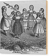 Girls Playing, 1844 Wood Print