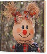 Girly Scarecrow Wood Print