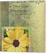 Give Thanks IIi Wood Print