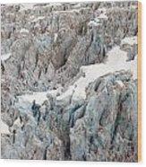 Glacial Crevasses Wood Print