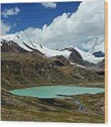 Glacial Lake In Kyrgyz Tien-shan Wood Print