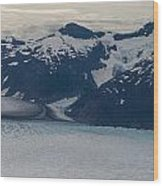 Glacial Panorama Wood Print