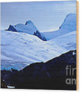 Glacier Cracks Wood Print