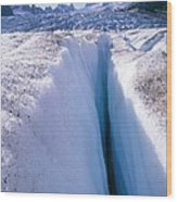 Glacier Crevasse, Canada Wood Print