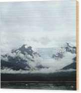 Glacier Mountain Wood Print by Mindy Newman