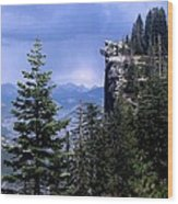 Glacier Point From Four Mile Trail Wood Print