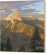 Glacier Point Glow Wood Print