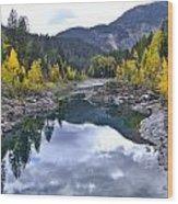 Glacier Reflection Wood Print