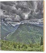 Glacier Wood Print