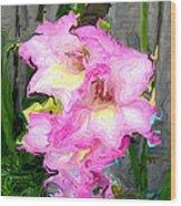 Glad Impressionistic Wood Print