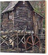 Glade Creek Grist Mill Series II Wood Print
