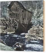 Glade Creek Mill In Infrared. Wood Print