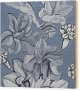 Gladiolas And Carnations Wood Print