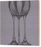 Glass 1 Wood Print