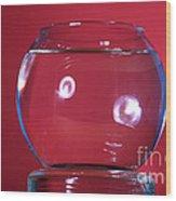 Glass Bowl Before Impact 1 Of 3 Wood Print