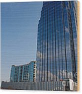 Glass Buildings Nashville Wood Print by Susanne Van Hulst