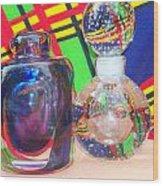 Glass Light And Color Series 4  Wood Print