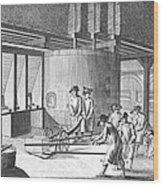 Glass Manufacture, 1751 Wood Print