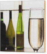 Glass Of Champagne Wood Print