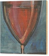 Glass Of Red Wood Print by Tim Nyberg