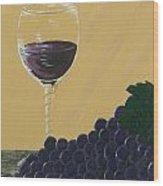 Glass Of Wine Wood Print