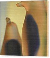 Glass Penguins Wood Print