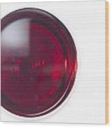 Glass With Red Wine Wood Print