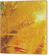 Glassworks Series-gold I Wood Print