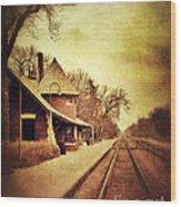 Glencoe Train Station Wood Print