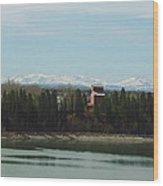 Glenmore Reservoir Wood Print