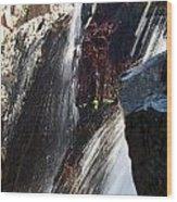 Glenn Alpine Falls Wood Print