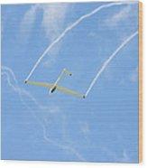 Glider Aerobatics Against Blue Sky Canvas Poster Photo Print Wood Print