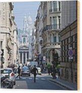 Glimpse Of Montmartre Wood Print