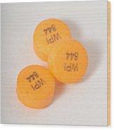 Glipizide, Drug For Type II Diabetes Wood Print