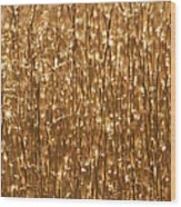 Glistening Gold Prairie Grass Abstract Wood Print