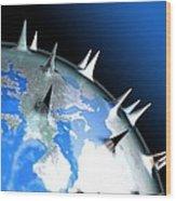 Global Pandemic, Conceptual Artwork Wood Print