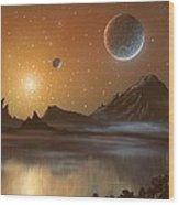 Globular Cluster, Artwork Wood Print