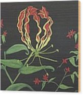 Gloriosa Wood Print by Melanie Blankenship