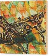 Glorious Grasshopper Wood Print