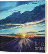 Glory Of The Sunset 2 Wood Print